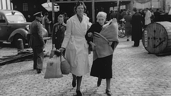 April 28, 1945. Newborn Ewa and her mother arrive from Ravensbrück.